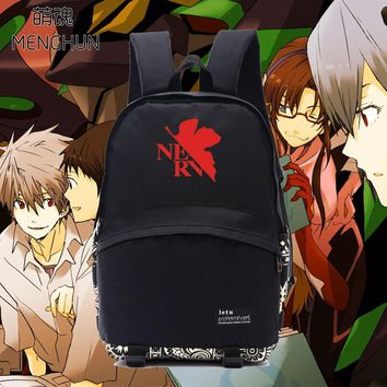 NEON GENESIS EVANGELION EVA backpack black daily wear school bag NERV new anime fans anime fans backpacks NB059