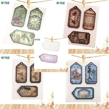 Christmas gift card Stamp die Set craft Tag Metal Cutting Dies label clear stamps with dies for scrapbooking gift DIY decor tool