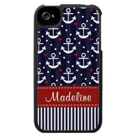 Nautical Themed Anchor iPhone 4 / 4s Case Cover from Zazzle.com