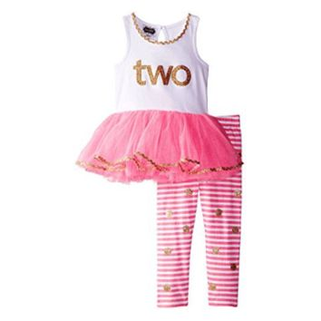 Mud Pie 2nd Birthday Tunic & Leggings