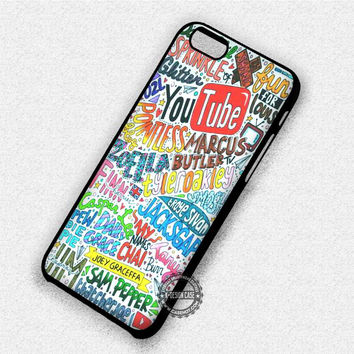 Youtubers Funny Collage - iPhone 7 6 Plus 5c 5s SE Cases & Covers