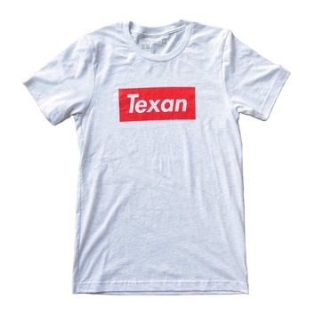 Heather White Texan Unisex T-shirt