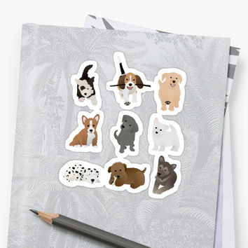 'puppies' Sticker by tandemsy