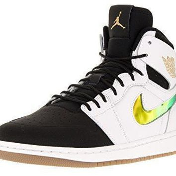 nike jordan men s air jordan 1 retro high nouv basketball shoe air jordans in white  number 1