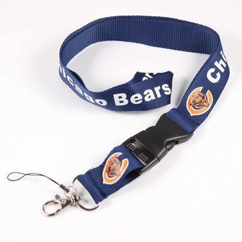 Chicago Bears Tags Strap Neck Lanyards For Keys ID Card Pass Gym Mobile Phone USB badge holder DIY Hang Rope Lariat Lanyard