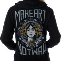 Obey Make Art Not War Black Hoodie at Zumiez : PDP