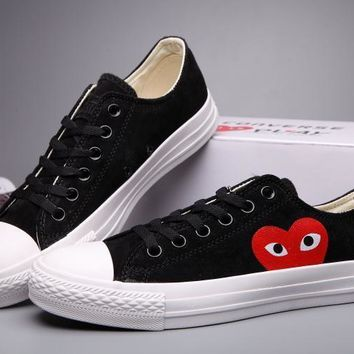 qiyif Converse Comme Des Garcons Suede Chuck Taylor All Star  Black/White