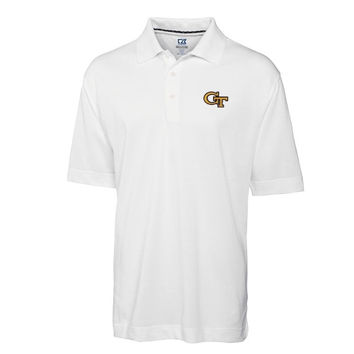 GA Tech Yellow Jackets Cutter & Buck DryTec Championship Performance Polo - White