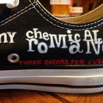 VONE05D hand painted my chemical romance converse