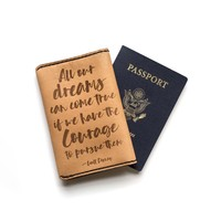 Passport Cover with Quotes