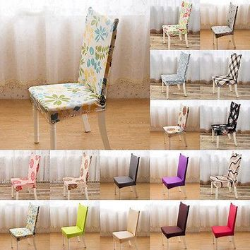 2016 New Stretch Elastic Dining Room Wedding Banquet Chair Cover Decor Washable Slipcover