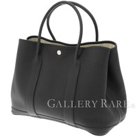 HERMES Garden Party PM Veau Negonda Noir Tote Bag #A France Authentic 4450382