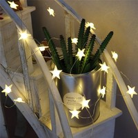 DELICORE 20 Leds Star Shaped LED Fairy String Lights Baby Home Decor Lighting For Holiday Party Decoration S146