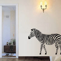 ZEBRA Vinyl Wall Art Decal by 7decals on Etsy