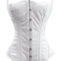 Luvsecretlingerie 26 Double Steel Boned Waist Training Leather Overbust Corset