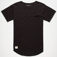 Lira Aussie Mens Pocket Tee Black  In Sizes