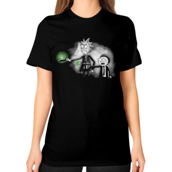 Pulp Ricktion Unisex T-Shirt (on woman)