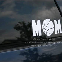 "7.65x3"" Basketball Mom Sport Vinyl Decal"