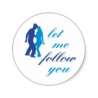 Let Me Follow You - Blues Sticker