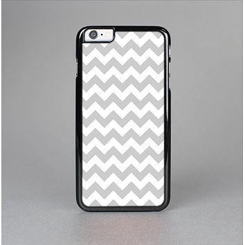The Gray & White Chevron Pattern Skin-Sert for the Apple iPhone 6 Skin-Sert Case