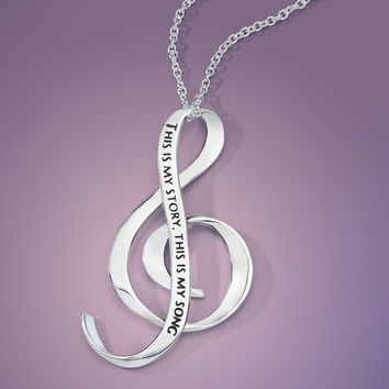 This Is My Story, This Is My Song Sterling Silver