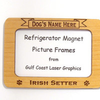 Irish Setter Dog Magnet Picture Frame