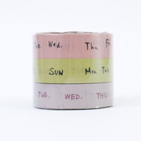 Classiky Washi Tape Trio Days