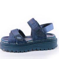90s Vintage Platform Skechers Sandals Navy Blue Chunky Strap Club Kid Rave Shoes Womens Size US 7 UK 5 EUR 37