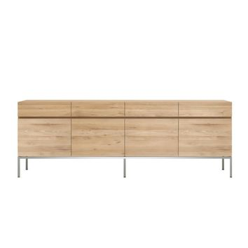 Ethnicraft Oak Ligna Sideboard - 4 Door 4 Drawer