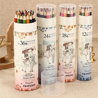 12  24 36 48Colors Artist Professional Drawing Colored Pencils Writing Sketching B104 [8072699911]