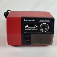 Vintage Panasonic Pencil Sharpener KP-123 Cherry Red Auto-Stop - Tested Works | eBay