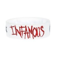 Motionless In White Infamous Rubber Bracelet