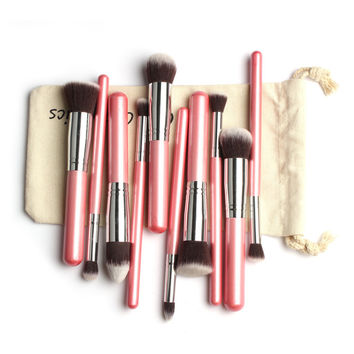 10-pcs Make Up Brush Kit [9605362383]