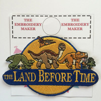 Land Before Time Embroidered Motif Iron/Sew on Patch Badge Embroidery LARGE