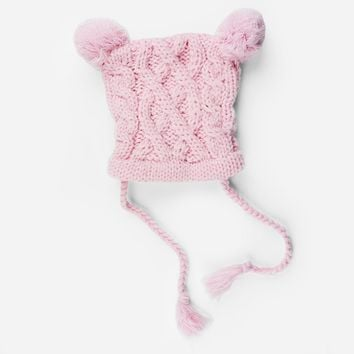 Quinn Cable Pom Pom Knit Hat