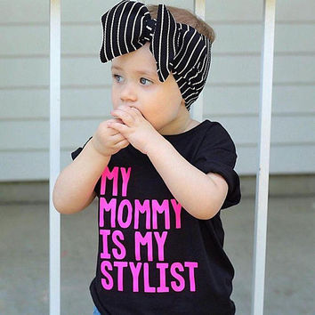 My mommy is my stylist, mommy stylist, mommy is my bestie, mommy and me, mini me, mommys mini, fashionista shirt, just like mom, I love mom