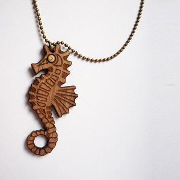 Seahorse Necklace by VectorCloud on Etsy