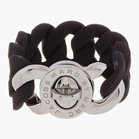 Marc By Marc Jacobs Black Rubber Katie Turnlock Bracelet for women | SSENSE