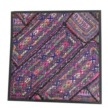 "Mogul Purple Pillow Sham Vintage Kutch Embroidered Tapestry Wall Hanging Home Décor ""18x18"" - Walmart.com"