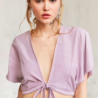 Kimchi Blue Caro Tie-Front Top | Urban Outfitters