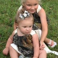 Camo Flower Girl Pillowcase Dress, adorable, economical , just perfect for your camo wedding!