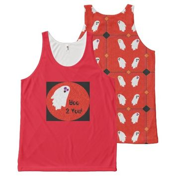 Cute Ghost Party All-Over Print Tank Top