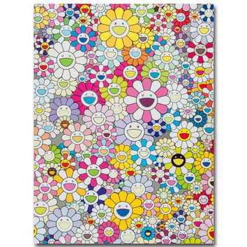 FX1780 Hot Takashi Murakami Japanese Pop Trippy Folwer Artist Custom Poster Art Silk Light Canvas Home Room Wall Printing Decor