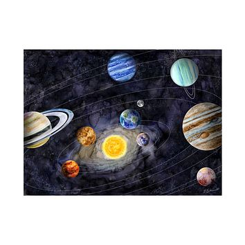 Solar System Watercolor