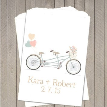 10% OFF Bicycle Wedding Favor Bags ~  Wedding Candy Buffet Bags, Candy Bags, Treat Bags, Candy Bar Buffet Bag, Paper Bags