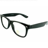 CLEAR LENS 80's Style Vintage Wayfarer Style Sunglasses. Many Colors For Frame,Black Clear Lens.Amazon doesn't give us