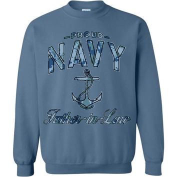 Proud Navy Father-in-Law Sweatshirt (Camo)