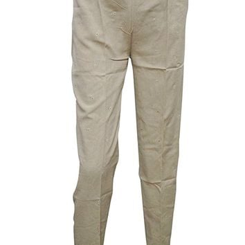 Women's Stylish Casual Beige Slim Pant S