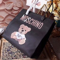 MOSCHINO TEDDY BEER LEATHER TOTE BAG