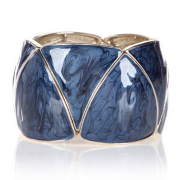 Oasis Jewellery | Mid Blue Triangle Enamel Bracelet | Womens Fashion Clothing | Oasis Stores UK